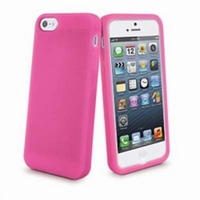 Apple iPhone 5/5S Muvit Silicon Case Roze