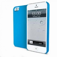 Muvit iGum Rubberized Hard Case Blauw voor Apple iPhone 5/5S