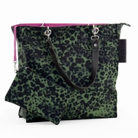 Zebra Natural Bag - BARCA - LEO Groen