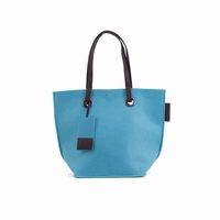 Zebra Natural Bag Vilt - Blauw