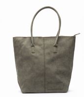 Zebra Trends Natural Bag Kartel Suedines met Rits - Army