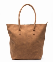 Zebra Trends Natural Bag Kartel Suedines met Rits - Camel