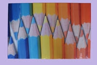 Canvas print pencils yellow-blue