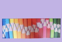 Canvas print pencils double row